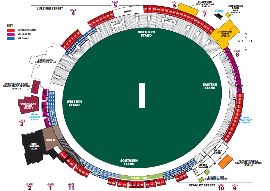 Gabba Map Corporate Hospitality